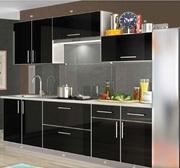 Кухня Mirror Gloss (с пластиковыми фасадами в алюминиевой рамке)